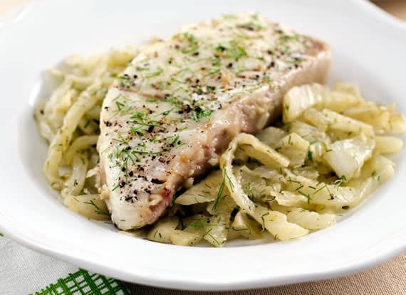 Fennel-Roasted Wild Alaskan Halibut
