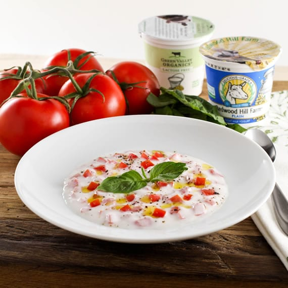 Yogurt Margherita - Savory Tomato Yogurt